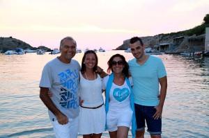Manolo, Vane, Pepa y Nacho en Ibiza