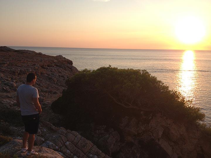 Puesta de Sol desde Cala Vadella - Ibiza