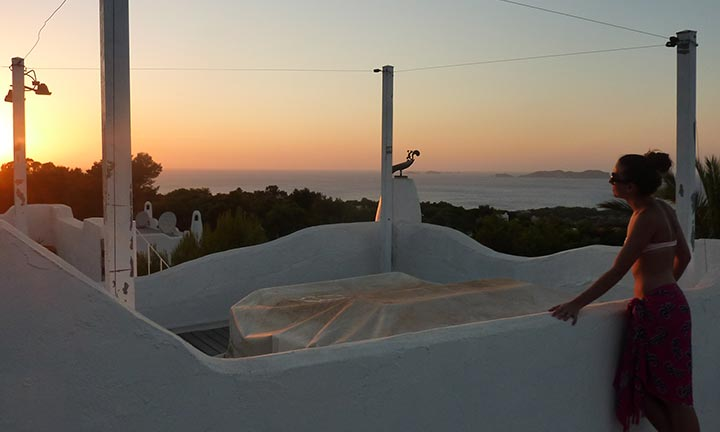 Puesta de Sol desde casa en Cala Vadella - Ibiza