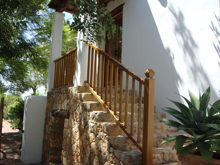 Entrada habitación en Hotel Can Curreu, Ibiza
