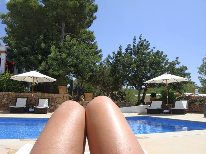 Piscina verano en Hotel Can Curreu, Ibiza